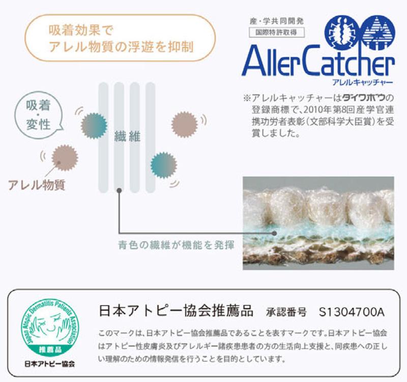 アレルキャッチャーとは? 吸着効果でアレル物質の浮遊を抑制