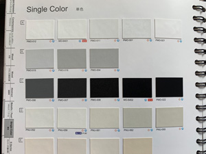 単色カラー カタログ写真