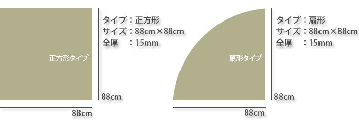 置き畳:彩美のサイズ